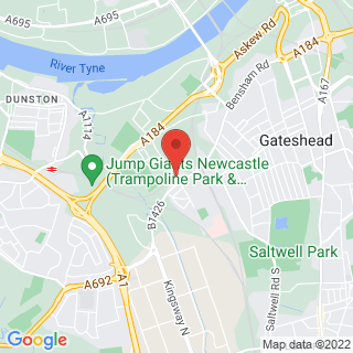 Indoor Paintball Gateshead, Newcastle Location Map